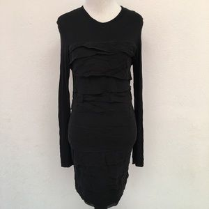 Diane von Furstenberg Bandot Mini Dress Sz S Black